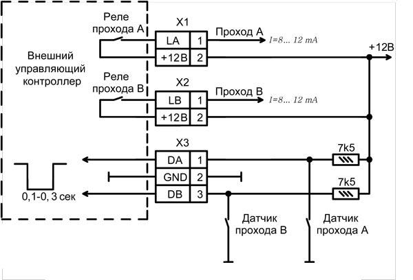 Схема подключения ВУК